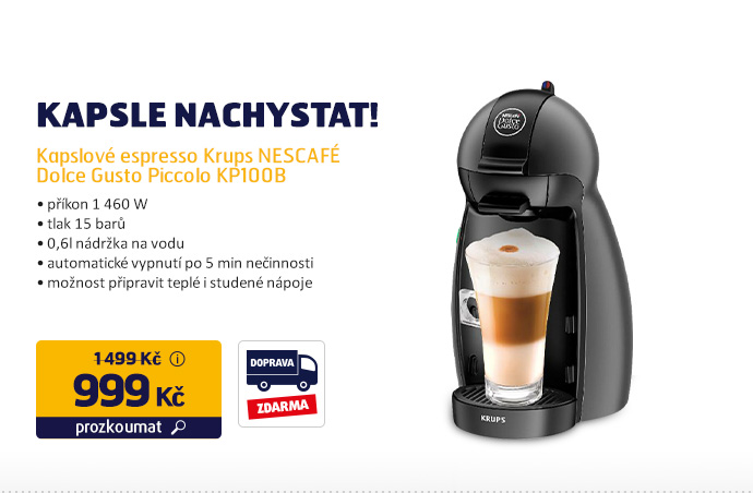 Kapslové espresso Krups NESCAFÉ Dolce Gusto Piccolo KP100B