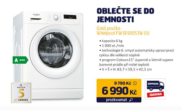 Úzká pračka Whirlpool FWSF61053W EU