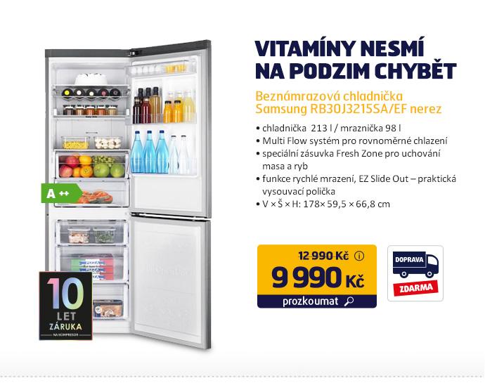 Beznámrazová chladnička Samsung RB30J3215SA/EF nere