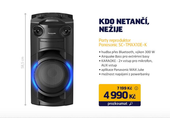 Party reproduktor Panasonic SC-TMAX10E-K