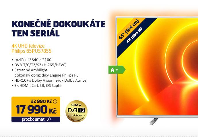 4K UHD televize Philips 65PUS7855