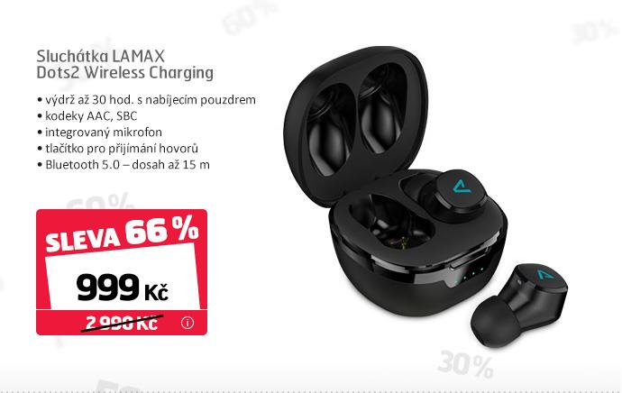 Sluchátka LAMAX Dots2 Wireless Charging