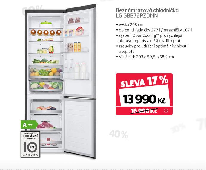 Beznámrazová chladnička LG GBB72PZDMN