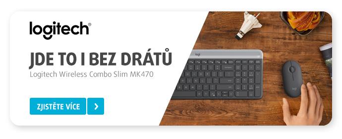 Bezdrátová klávesnice s myší Logitech