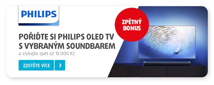 Doplňte OLED TV Philips vybraným soundbarem Philips a získejte CashBack až 15 000 Kč