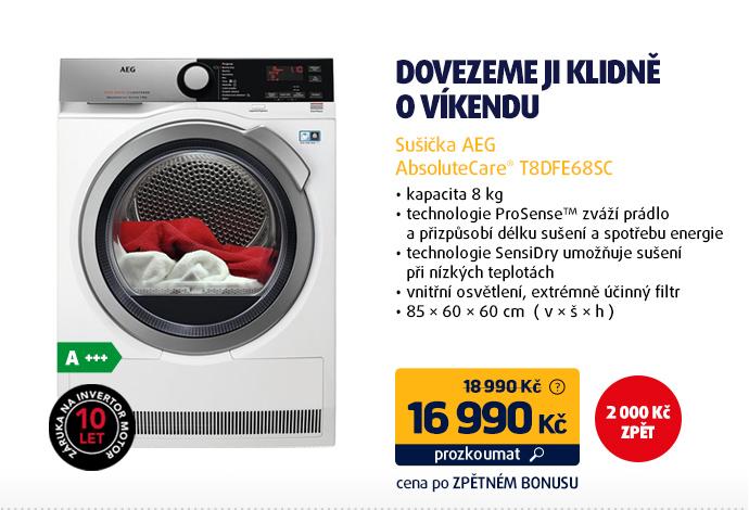 Sušička AEG AbsoluteCare® T8DFE68SC