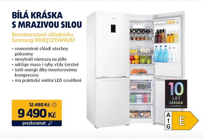Beznámrazová chladnička Samsung RB30J3215WW/EF