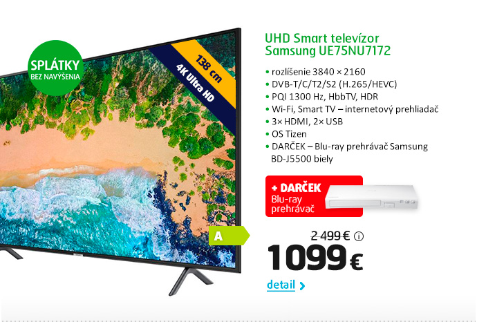 UHD Smart televízor Samsung UE75NU7172