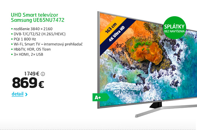 UHD Smart televízor Samsung UE65NU7472
