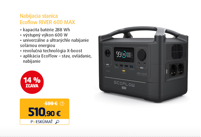 Nabíjacia stanica Ecoflow RIVER 600 MAX
