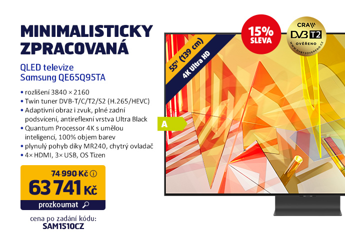 QLED televize Samsung QE65Q95TA