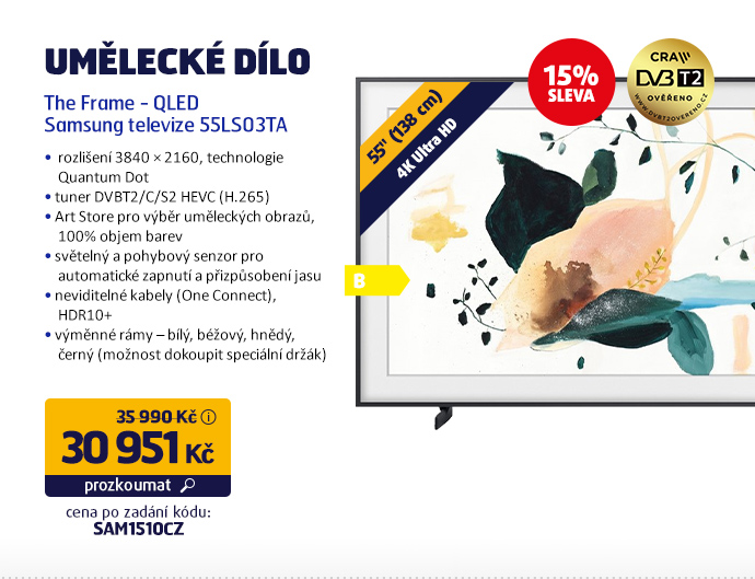 The Frame - QLED Samsung televize 55LS03TA