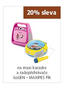 20% sleva na maxi karaoke a radiopřehrávač GoGEN -MAXIPES FÍK