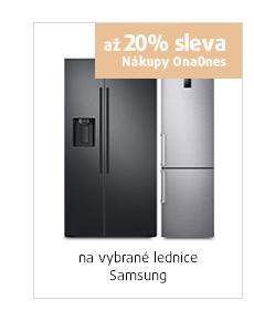 až 20% sleva na vybrané lednice Samsung
