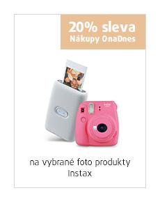 20% sleva na vybrané foto produkty Instax