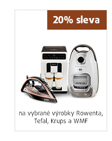 20% sleva na vybrané výrobky Rowenta, Tefal, Krups a WMF