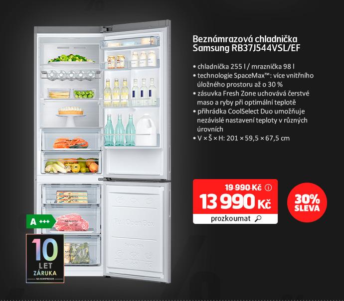 Beznámrazová chladnička Samsung RB37J544VSL/EF