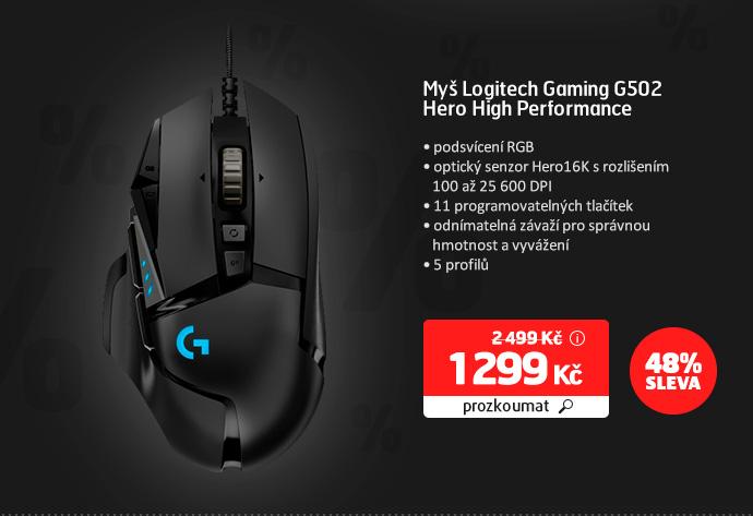Myš Logitech Gaming G502 Hero High Performance