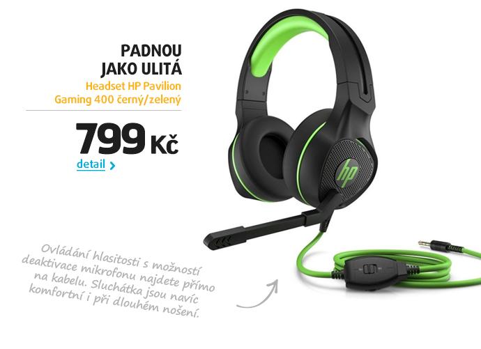 Headset HP Pavilion Gaming 400 černý/zelený
