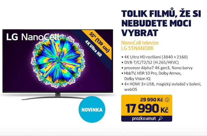 NanoCell televize LG 55NANO86