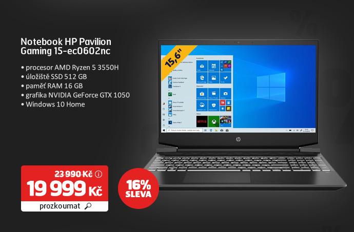 Notebook HP Pavilion Gaming 15-ec0602nc