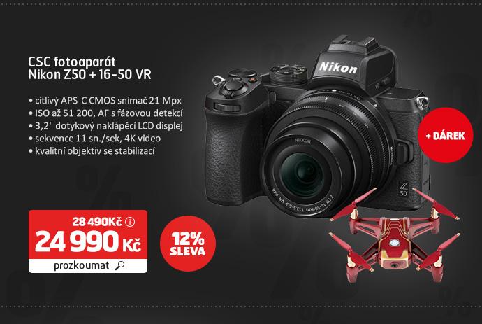 CSC fotoaparát Nikon Z50 + 16-50 VR