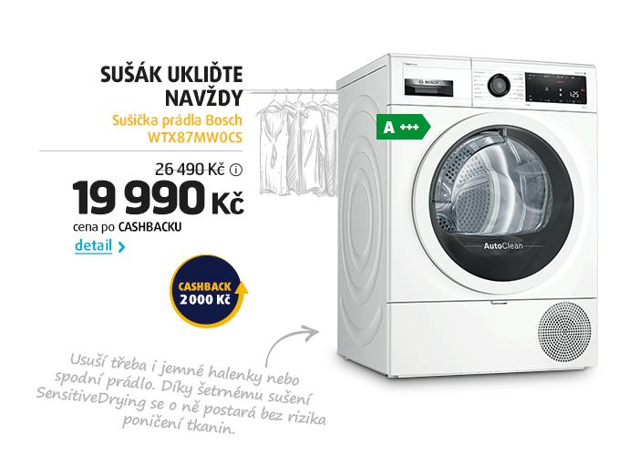 Sušička prádla Bosch WTX87MW0CS