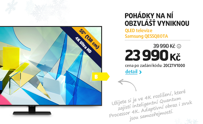 QLED televize Samsung QE55Q80TA