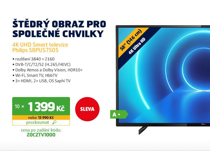 4K UHD Smart televize Philips 58PUS7505