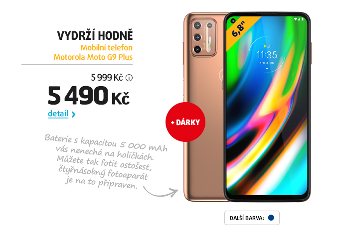Mobilní telefon Motorola Moto G9 Plus