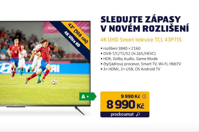 4K UHD Smart televize TCL 43P715