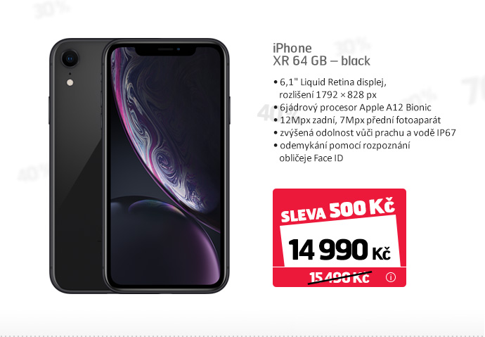 iPhone XR 64 GB – black