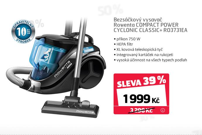 Bezsáčkový vysavač Rowenta COMPACT POWER CYCLONIC CLASSIC+ RO3731EA