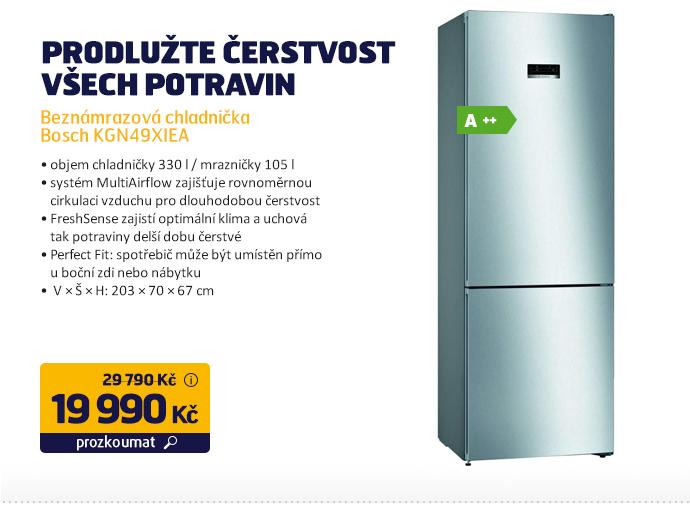 Beznámrazová chladnička Bosch KGN49XIEA