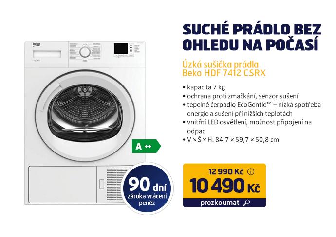 Úzká sušička prádla Beko HDF 7412 CSRX