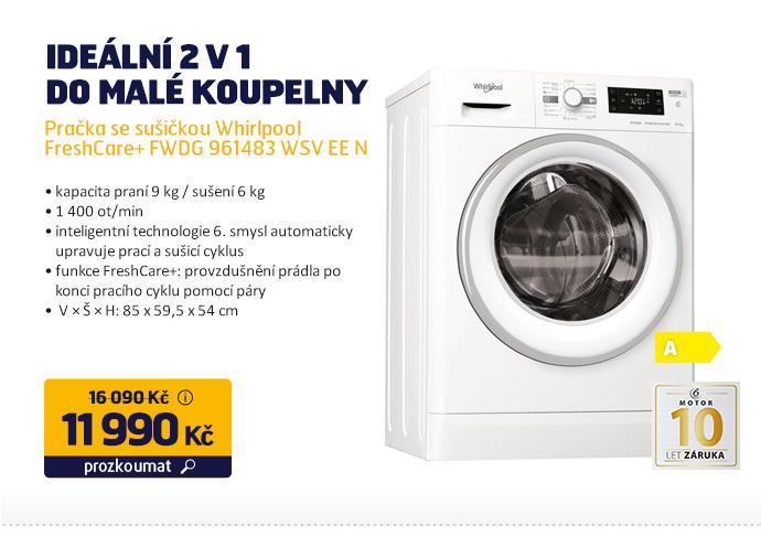 Pračka se sušičkou Whirlpool FreshCare+ FWDG 961483 WSV EE N
