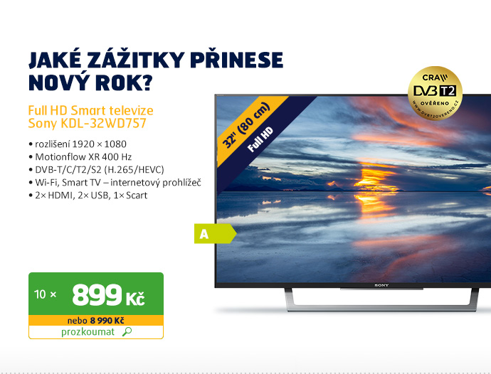 Full HD Smart televize Sony KDL-32WD757