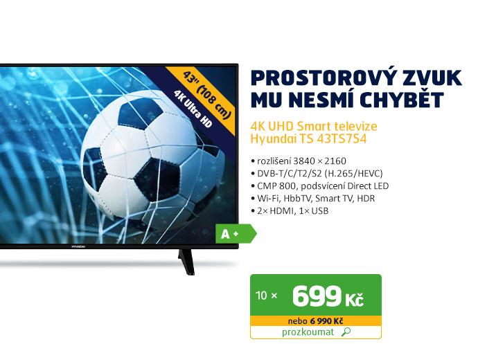 4K UHD Smart televize Hyundai TS 43TS754