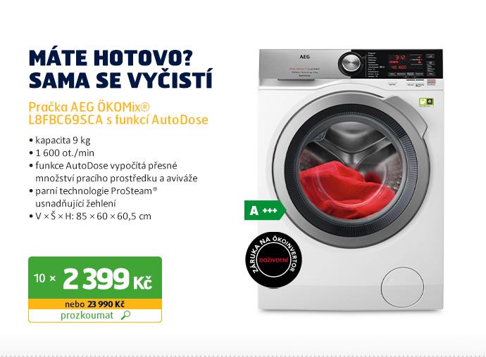 Pračka AEG ÖKOMix® L8FBC69SCA s funkcí AutoDose