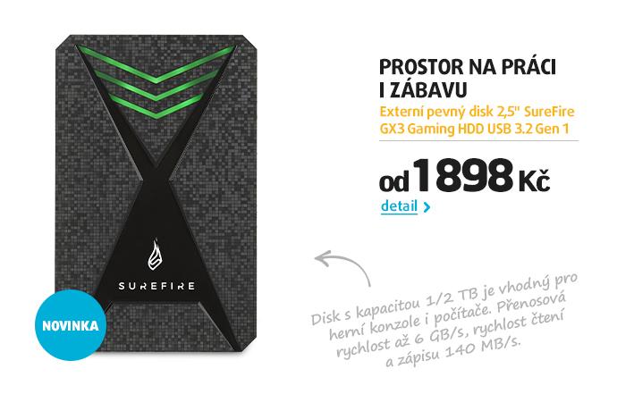 """Externí pevný disk 2,5"""" SureFire GX3 Gaming HDD USB 3.2 Gen 1"""