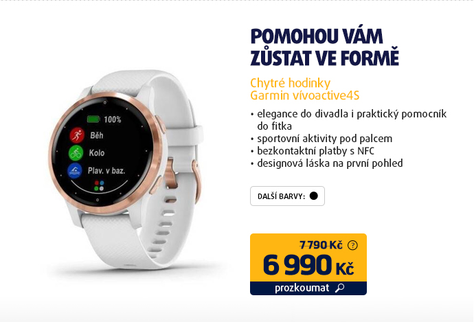 Chytré hodinky Garmin vívoactive4S