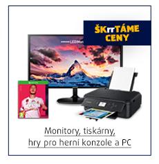 Monitory, tiskárny, hry pro herní konzole a PC