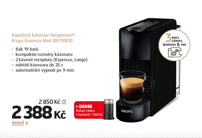 Kapslový kávovar Nespresso® Krups Essenza Mini XN110810