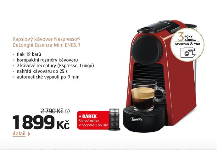 Kapslový kávovar Nespresso® DeLonghi Essenza Mini EN85.R