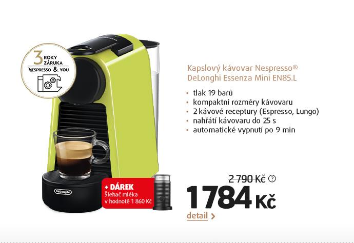 Kapslový kávovar Nespresso® DeLonghi Essenza Mini EN85.L