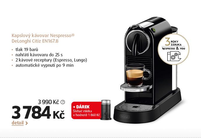 Kapslový kávovar Nespresso® DeLonghi Citiz EN167.B