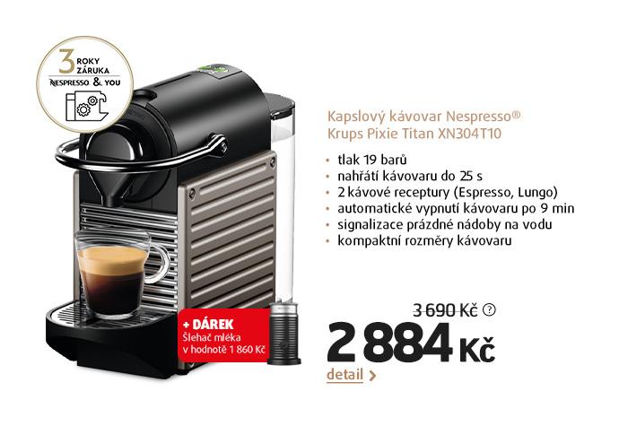 Kapslový kávovar Nespresso® Krups Pixie Titan XN304T10