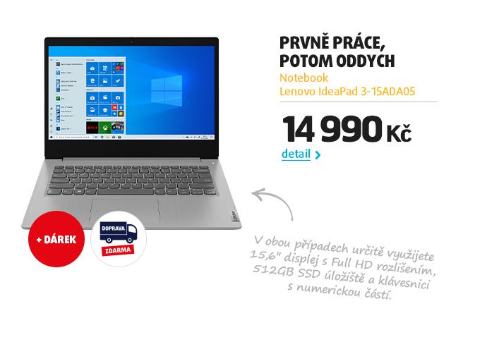 Notebook Lenovo IdeaPad 3-15ADA05