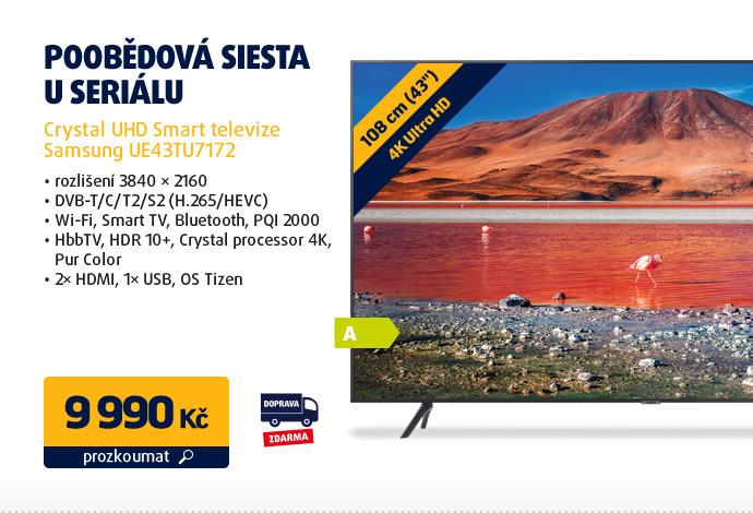 Crystal UHD Smart televize Samsung UE43TU7172