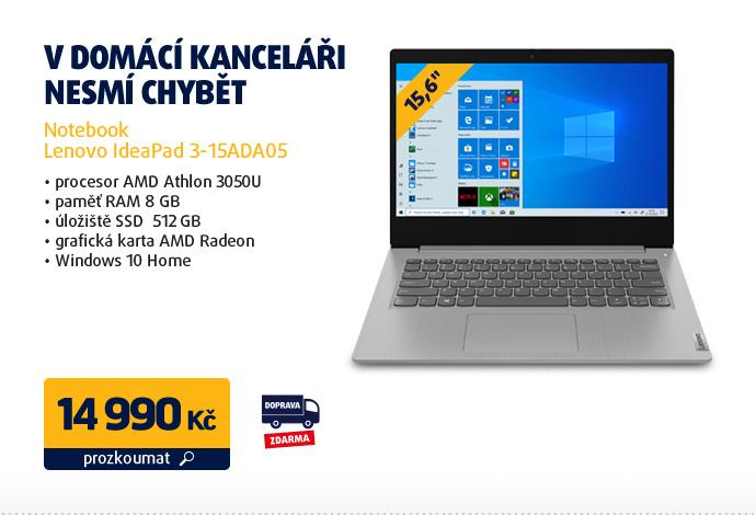 Notebook Lenovo IdeaPad 3-15ADA05